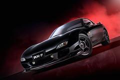 Mazda RX7 (Rogue86Photog) Tags: blue red colour cars dark studio nikon key low automotive mazda brochure rx7 strobe