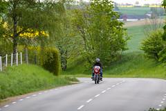 On the bike (Infomastern) Tags: field landscape countryside mc landskap motorcykel mortorcycle flt landsbygd