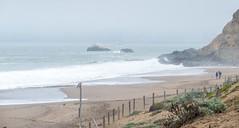 Baker Beach in the Fog (Serendigity) Tags: mist california usa beach fog sanfrancisco coast surf