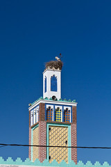 Stork nest on minaret (Sue_Hutton) Tags: nest minaret morocco maroc chefchaouen stork storknest march2012