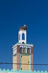 Stork nest on minaret (Sue_Hutton) Tags: nest minaret morocco maroc chefchaouen stork storknest march2012