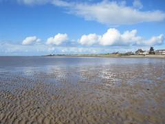 Clouds reflect, West Kirby sands (wrightrkuk) Tags: sky beach clouds reflections rocks sands mudflats wirral westkirby merseyside riverdee deeside hilbreisland tidalflats deeestuary hilbreislandnaturereserve