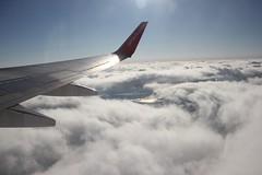 Heimflug (Drantcom) Tags: den himmel wolken flugzeug sonne airberlin flgel ber