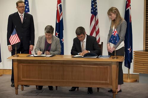 Secretary of Homeland Security Janet Napolitano visit to New Zealand
