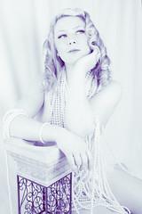 Pensive pearls (JAS (realjas)) Tags: seattle portraits vintage photography model kristin myphotography kristinkangur