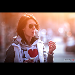 I  ... (Jeff Krol) Tags: street woman sunlight cinema love sunglasses amsterdam canon hair square eos heart bokeh dam smoke streetphotography cellphone special explore nails flare cinematic f28  inhale iphone 70200mm 70200l img6934 explored ef70200mmf28lusm 60d canon60d jeffkrol