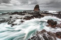 chaotic calm (Luke Tscharke) Tags: longexposure seascape motion water rock geotagged action feature pulpitrock 17mm capeschank 5dmkiii 5dmarkiii 5d5 madetoviewlarge taplkey geo:lat=3849923529742308 geo:lon=14488962975463107