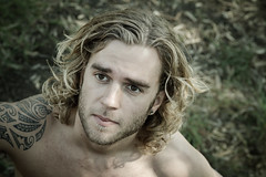 DH-06 (mozzie71) Tags: man hot cute male tattoo model long bare chest australia melbourne blonde aussie bloke tatts