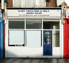 Glory Touch Hair & Nails Unisex Salon, Standstead Road SE4 (Emily Webber) Tags: london lewisham shops shopfronts se4 stansteadroad londnshopfronts
