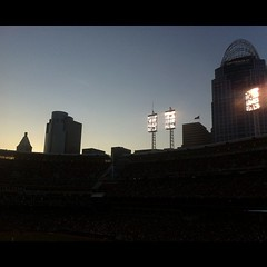The Queen City Is Watching Over #Reds #GABP #nofilter