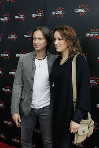 Robert Carlyle and his wife Anastasia Shirley arriving for the screening of California Solo at Cineworld