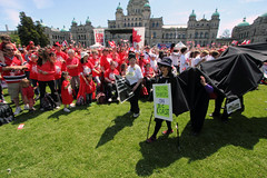 No Oil Tankers on BC Coast (Professional Recreationalist) Tags: poverty canada island living day bc britishcolumbia flag homeless victoria drop celebration vancouverisland miller human oil ruth brucedean professionalrecreationalist grannies raging raginggrannies ruthmiller socialcoastorg socialcoast