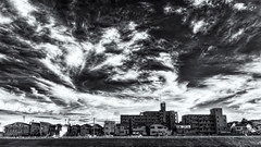 Clouds Gone Wild (JapanDave) Tags: sky monochrome japan clouds 日本 雲 空 モノクローム
