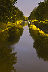 Hythe canal at night (Hayn0r) Tags: uk trees portrait england macro reflection 120 water night canon reflections river dark landscape eos mirror countryside canal kent long exposure military country royal sigma apo 365 70300mm dg day106 folkestone hythe 70300 600d 365days 120sec
