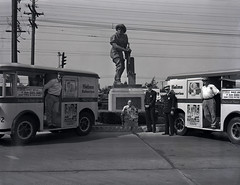 10-5-1941 Fire Prevention Week at Helms Bakery. Photo by Endsley