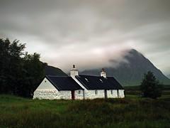 BLACKROCK COTTAGE (kenny barker) Tags: longexposure scotland long exposure day cloudy glencoe capture lowclouds finest the blackrockcottage olympusep1 welcomeuk kennybarker