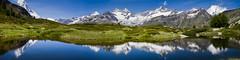 Matterhorn Panorama (flyingdodo) Tags: panorama lake mountains alps reflection reflections landscape switzerland europe lac zermatt matterhorn