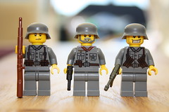 WWII Germans (zalbaar) Tags: world 2 war lego wwii german ww2 minifigs custom zalbaar