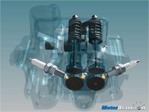 1. Pulsar 200NS - Triple Spark 4Valve Cylinder Head