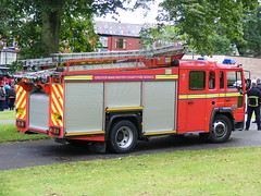 1866 - GMFRS - Greater Manchester Fire And Rescue Service - Volvo FL - Saxon - Pump Ladder - MH04 FJA (Call the Cops 999) Tags: park uk england rescue manchester fire volvo day open central stripe july crest pump queens vehicles 101 bolton vehicle and service fl greater ladder 29 emergency 112 chevron services saxon 2012 revolving 999 lightbar mh04 fja dscf6522 gmfrs sanbec