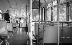 Línea M (. M a r t @ . ♦♦) Tags: bw santafe byn argentina vintage diptych trolley rosario dippy virado trolebus reciclado díptico transporteurbano d80 mbm55 líneam