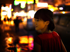 Double Foolish in Bokeh (Jonathan Kos-Read) Tags: china night hongkong bokeh chinesegirl hotasiangirl hotchinesegirl