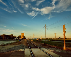 St. David, Illinois (Pete Zarria) Tags: railroad sky clouds illinois corn elevator grain agritecturefarm