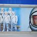 Mural of the Mercury 7 astronauts and astronaut John Glenn