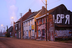 The abandoned village of Doel by dawn (sensaos) Tags: street urban streetart art abandoned graffiti town belgium belgique decay exploring ghost belgië forgotten ghosttown exploration abandonment trespassing ue urbex doel 2011 sensaos