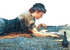 Mosaique bleue de Hale (www.puzzles-et-jeux.com) Tags: paris france art puzzle made wilson hale michle mosaque peintre anglais contemporain prraphalites