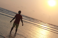 Sea Beach at Cox's Bazar (RiddhoRaju) Tags: sunset sea portrait photography alone afternoon outdoor seabeach coxsbazar anawesomeshot alongman riddhoraju riddhorajuphotography