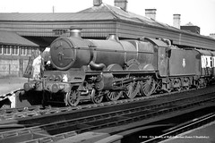 c.1955 - Shrewsbury, Shropshire. (53A Models) Tags: railroad castle train shropshire railway steam shrewsbury locomotive passenger 4000 northstar gwr 460 britishrailways collett