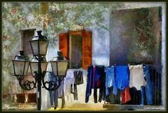 Al sole di Maggio - 2016 (agostinodascoli) Tags: art texture photoshop nikon colore digitalart nikkor sicilia lampione photopainting balconi fullcolor cianciana