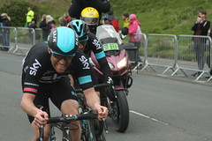 Lars Petter Nordhaug and Gianni Moscon (Steve Dawson.) Tags: road uk england cars race canon eos is 1st yorkshire may bikes cycle tdy scarborough usm ef28135mm stage3 uci peloton 2016 f3556 50d ef28135mmf3556isusm canoneos50d teamsky larspetternordhaug tourdeyorkshire giannimoscon