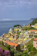 Riomaggiore (gilbertotphotography.blogspot.com) Tags: sea italy panorama seascape landscape italia mare view liguria cinqueterre paesaggio riomaggiore laspezia 5terre