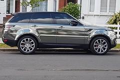 Silver reflector (Lloyd C Nicholls) Tags: reflection car silver automobile british rangerover luxury