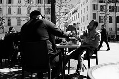 Phone (v.sellar) Tags: blackandwhite marseille streetphotography