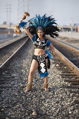 Music, dance, culture and photography! (KarlaYRivas) Tags: street urban beauty clothing ancient aztec style clash latina cultures juxtapose dtla ceremonial