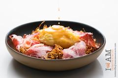 Huevos con Jamn (Iigo Somovilla) Tags: barcelona food macro dish wine egg cream plate huevos ou eggs huevo jamon creamy gastronomy foodphotography gastro ous