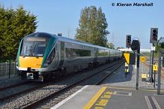 22036 passes Hazelhatch and Celbridge, 16/5/16 (hurricanemk1c) Tags: irish train rail railway trains hatch railways irishrail rok rotem 2016 icr iarnrd 22000 22036 ireann iarnrdireann premierclass 5pce hazelhatchandcelbridge