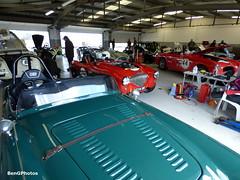 Garage (BenGPhotos) Tags: classic sports car club race start vintage austin spring fifties garage pit racing silverstone healy motor 100 jaguar 50 circuit motorsport vscc allard autosport xk 2016 fiscar