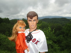Wallace Family Vacation (larry_boy17) Tags: people storm mountains nature clouds altered vintage toy outside toys outdoors james centennial doll dolls child outdoor ooak father dean daughter ken barbie redsox binoculars todd tutti jamesdean greatsmokymountains gsmnp repaint molded 100yrs repainted findyourpark