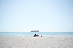 (Viet Thi Nguyen) Tags: blue sea summer usa sun white hot beach sand nikon florida atlantic lonely cocoa