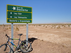 Biking in the desert (virharding) Tags: chile sanpedrodeatacama atacamadesert