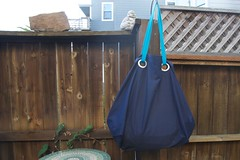 gigantic blue Ikea bag (foxthreads) Tags: beach bag sewing gym tote
