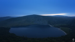 Blue Moment at Lough Tay... (fearghal breathnach) Tags: loughtay wicklow bluemoment longexposure dusk lake mountain water clouds wideangle landscape