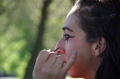 make-up for the Miss Chiff music video in Chicago (Opal in the rough) Tags: musicvideo