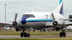 Miami Air Lease C-131E. (spencer.wilmot) Tags: aviation convair miamiairlease plane freight freighter cargo propliner prop piston opf kopf opalocka florida airplane aircraft airliner airport arrival apron ramp n41527 c131 mg mgd c131e convair440