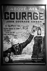(161/366) Courage...If You Knew You Were Going to Die Tomorrow.... (CarusoPhoto) Tags: bw 6 white black wall project john poster photo die day you going monochromatic graffitti plus were 365 caruso tomorrow courage iphone knew 366 161366 carusophoto courageif