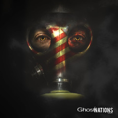 Requiem For The American Dream (Ghost Of Nations Photography And Digital Art) Tags: america dark square scary gloomy flag dirty gas spooky squareformat gasmask disturbing liminal disquiet ghostofnations ghostofnationsphotography